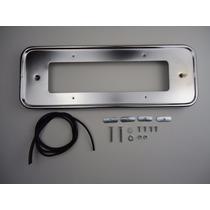 Moldura Placa Cromada Traseira Fusca Suporte Metal Vw 1300