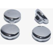 Jogo Botões Do Painel Fusca Moderno Metal Cromado ( 4 Peças)