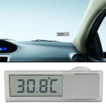Termômetro Lcd Veicular Interno Usado No Retrovisor Carro