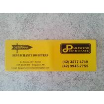 500 Carteirinha (carteira) Porta Despachante Personalizado