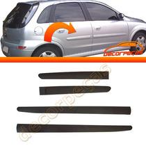 Kit Friso Lateral Corsa 03 - 11 Premium Largo 4 Peças Novo