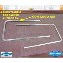 Par Moldura Aluminio Gm Frente Opala Caravan Diplomata 85-87