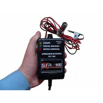 Carregador Bateria 12v 2ah Portátil Moto Carro Lancha Som