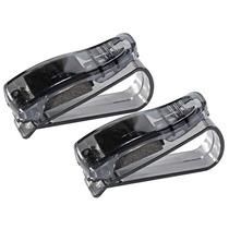 Kit 2 Porta Óculos Veicular Automotivo Carro Quebra Sol