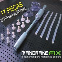 Kit Repuxadeira Martelinho Ouro Com Ventosas,cola ,aplicador