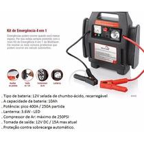 Auxiliar De Partida / Kit De Emergência 4x1 Multilaser Au602