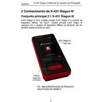 Manual Português Launch X431 Iv ,e Master Diagun Il,e Ill