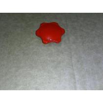 Roseta Botão Ar Quente Fusca Kombi Variant Cor Vermelha