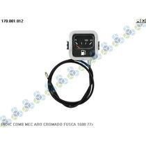 Indicador De Combustivel Aro Cromado Fusca 1600 77>
