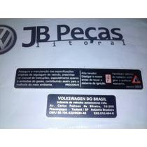 Etiqueta Painel Dianteira Gol G4 Fabricação Taubate Jb Pecas