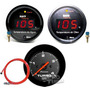 Kit Manômetros Termômetro De Água,óleo Pressão Turbo Sensor