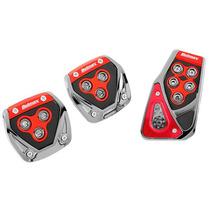 Pedaleiras Esportivas Vermelha Tunning - Kit 3 Peças