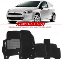 Tapete Automotivo Grafia Punto 2013 2014 Carpete Preto