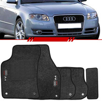 Tapete Audi A4 2005 2006 07 08 Carpete Grafite Logo Bordado