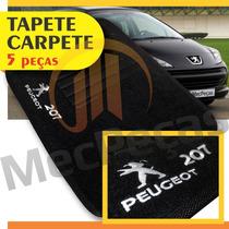 Tapete Carpete Personalizado Com Logo Bordado Peugeot 207