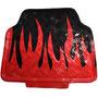 Tapete Automotivo Kit Com 5 Peças Vermelho Chamas Metalizado