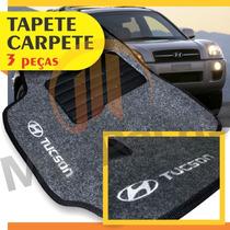 Tapete Carpete Personalizado Com Logo Bordado Tucson Grafite