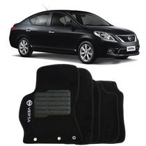 Tapete Carpete Nissan Versa 11-14 Personalizado Preto C Logo