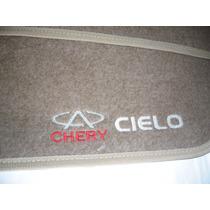 Tapete Carpete Chery Cielo Hatch Ou Sedan 10/... Bordados