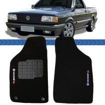 Tapete Saveiro Turbo Quadrado 85 A 94 95 96 97 Logo Bordado