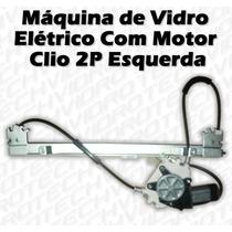 Máquina De Vidro Elétrico Com Motor Para Clio 2 Portas Esq
