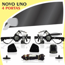 Kit Vidro Elétrico Dianteiro Sensorizado Uno Novo 4 Portas