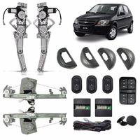 Kit Vidro Eletrico Celta Prisma 2001/ 2011 4 Portas Completo