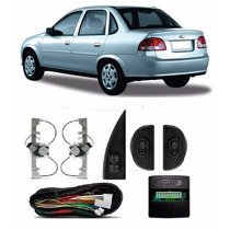 Kit Vidro Eletrico Corsa Classic Traseiro Original Sens.