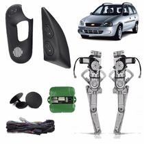 Kit Vidro Eletrico Corsa/wagon 2/4p Diant Sens Frete Gratis
