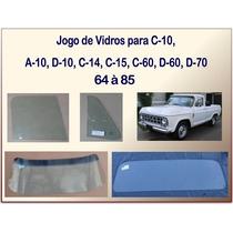 Jogo De Vidro Para C-10 1964 À 1985 06 Peças Vidros Temperad
