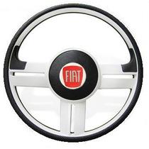 Volante Rallye Branco Fiat 147 De 76 A 86 Super Surf + Cubo