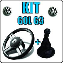 Kit Upgrade Volante + Bola De Câmbio + Coifa Marcha Gol G3 ®