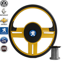 Volante Peugeot 206 Esportivo Rallye Amarelo