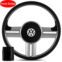Volante Cross Fox Rallye Esportivo Prata Cubo- Frete Grátis
