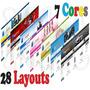 Mega Loja Virtual 7 Cores 28 Layouts Com Suporte Online Prof