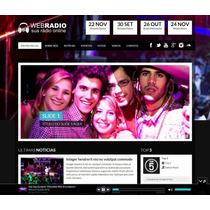 Site Web Rádio Responsivo Administrável - Script Php Tema Wp