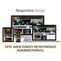 Site Web Rádio Responsivo Administrável - Script Php