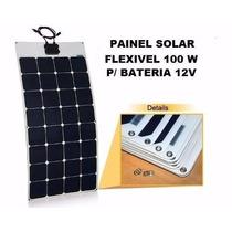 Painel Solar Monocristalino 100w - 12v Flexivel P/ Barco