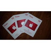 Itunes Gift Card U$50 - Cartão Itunes 50 Dólares Usa - Apple