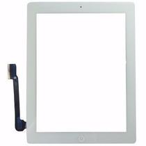 Vidro Tela Ipad 3 Ipad3 Touch 4g Branco Com Botão Home 16 Gb