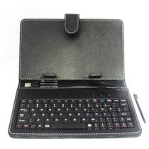 Capa Case Couro C/ Teclado Usb P/ Tablet Todas Marcas 10 P.