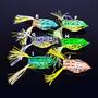 4 Iscas Artificiais Frog Pesca Sapo Borracha Traíra Tucunaré