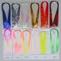 Material Atado Fly Flashabou Kit C/ 12 Cores Brilho Moscas
