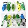 Kit 5 Isca Artificial Sapo Frog 5cores C/ Anzol Anti Enrosco