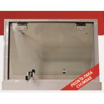 Jenela Maxiar 600x500 Tipo Blindex Aluminio Branco Incolor