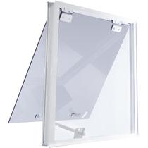Jenela Maxiar 600x500 Tipo Blindex Aluminio Branco Fumê