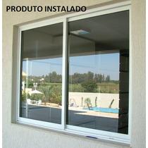 Janela 2f Linha 25 Suprema 2,00x1,20m Com Vidro- Janelafacil