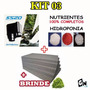 220v Kit 03 Espuma Fenólica + Nutrientes + Bomba Hidroponia