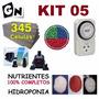 110v Kit 5 2,45mt Espuma Fenólica Nutriente Bomba Hidroponia