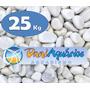25 Kg Seixo Branco, Pedras Para Jardins, Decoração, Aquário